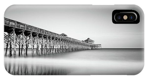 Pier iPhone Case - Folly Beach Pier by Ivo Kerssemakers