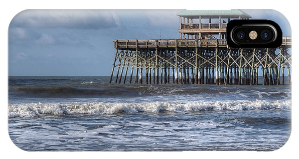 IPhone Case featuring the photograph Folly Beach Pier by Michael Colgate