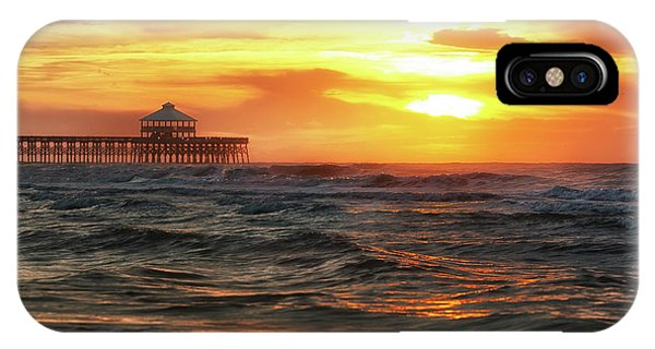Folly Beach Pier Sunrise IPhone Case