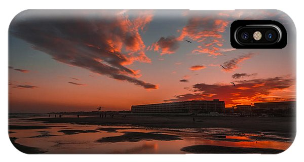 Folly Beach Sunset IPhone Case