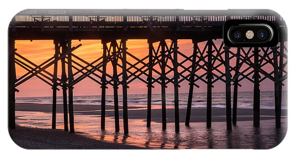 Folly Pier At Sunrise IPhone Case