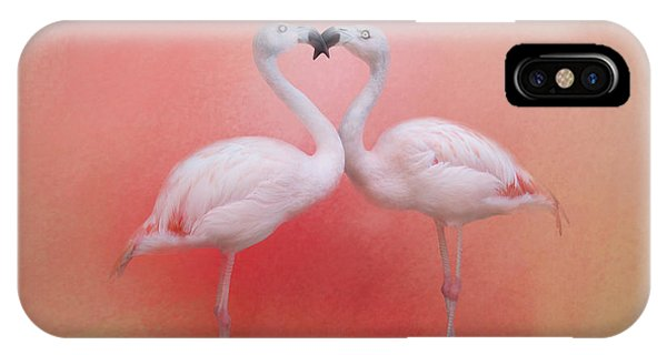 Fond Flamingos IPhone Case