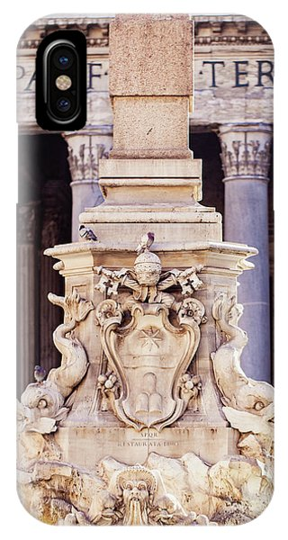 Fontana Del Pantheon - Pantheon Fountain II IPhone Case