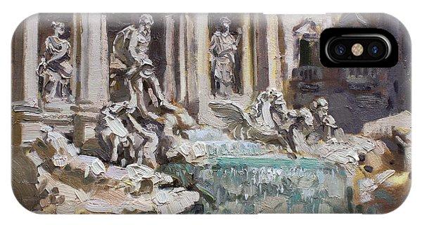 Monument iPhone Case - Fontana Di Trevi Rome by Ylli Haruni