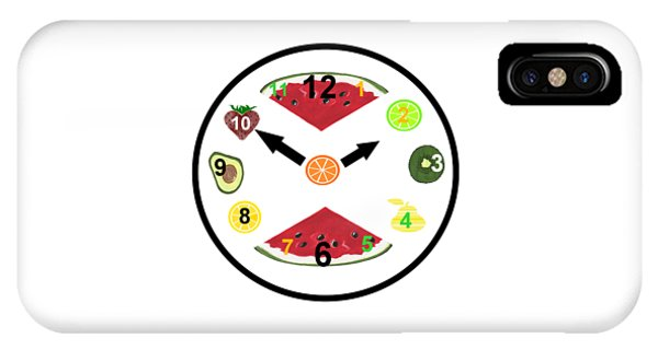 Food Clock IPhone Case