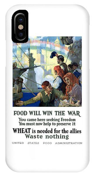 Statue Of Liberty iPhone Case - Food Will Win The War by War Is Hell Store