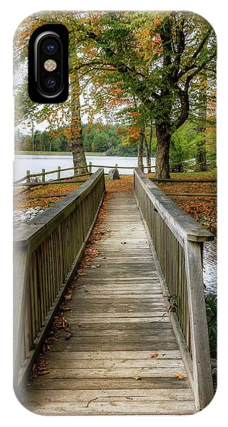 Foot Bridge At Linville Land Harbor IPhone Case