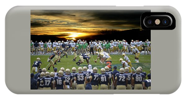 Football Field-notre Dame-navy IPhone Case