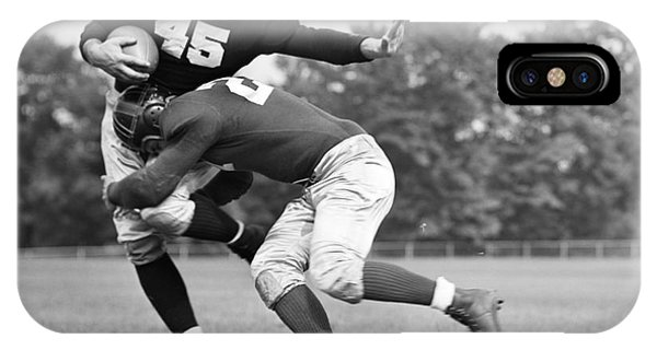 Stop Action iPhone Case - Football Player Being Tackled, C.1940s by H. Armstrong Roberts/ClassicStock