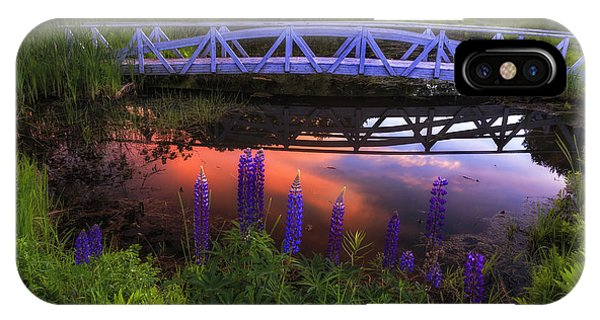 Footbridge Sunset IPhone Case
