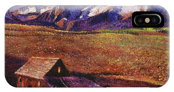 Barn Snow iPhone Case -  Foothill Ranch by David Lloyd Glover