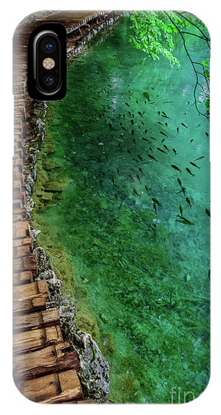 Footpaths And Fish - Plitvice Lakes National Park, Croatia IPhone Case