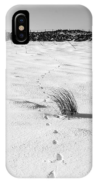 Footprints In The Snow I IPhone Case