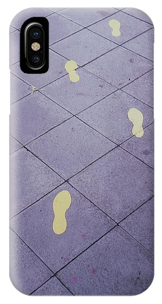 Footsteps On The Street IPhone Case
