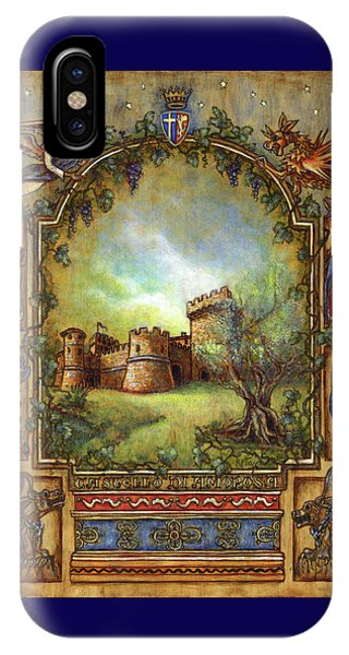 IPhone Case featuring the painting For The Love Of Castles by Retta Stephenson