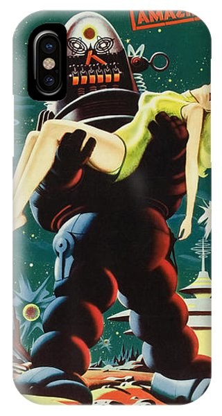 Forbidden Planet In Cinemascope Retro Classic Movie Poster Portraite IPhone Case