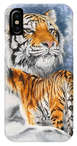 Big Cat iPhone Case - Forceful by Barbara Keith