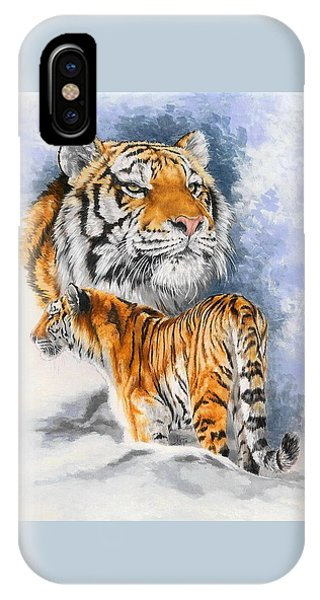 Tiger iPhone Case - Forceful by Barbara Keith