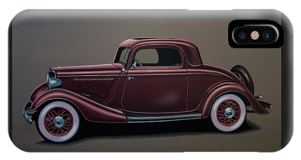 Falcon iPhone Case - Ford 3 Window Coupe 1933 Painting by Paul Meijering