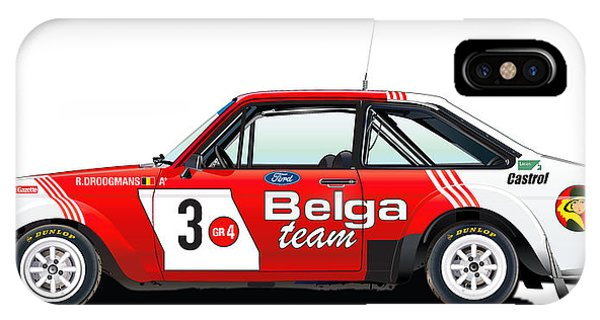 Ford Escort Rs Belga Team Illustration IPhone Case