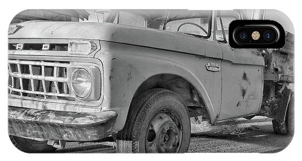 Ford F-150 Dump Truck Bw IPhone Case
