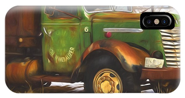 Fashion Plate iPhone Case - Ford Farm Truck Painterly Impressions by Nick Gray