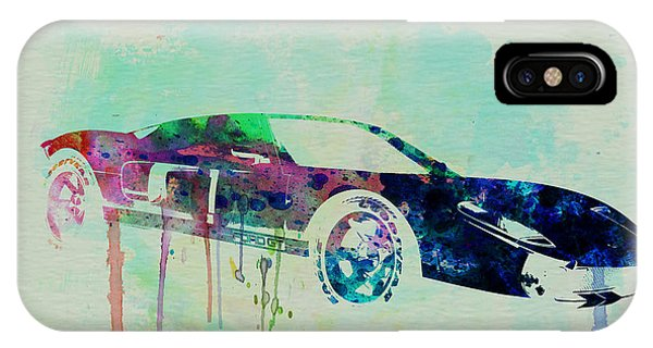 Ford Gt Watercolor 2 IPhone Case