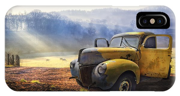 Cloud iPhone Case - Ford In The Fog by Debra and Dave Vanderlaan