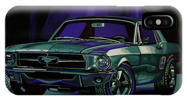 Car iPhone Case - Ford Mustang 1967 Painting by Paul Meijering