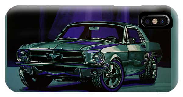 Falcon iPhone Case - Ford Mustang 1967 Painting by Paul Meijering