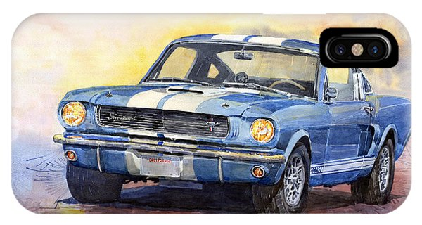 Automotive iPhone Case - Ford Mustang Gt 350 1966 by Yuriy Shevchuk