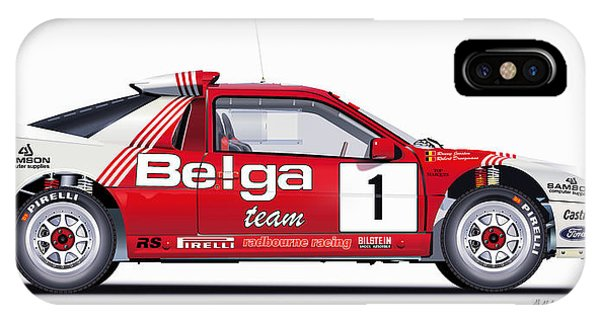 Ford Rs 200 Belga Team Illustration IPhone Case