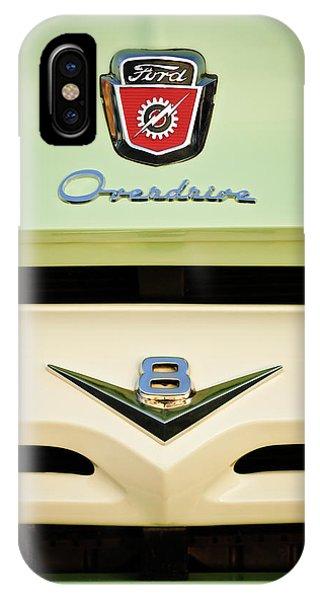 Ford V8 Pickup Emblem IPhone Case