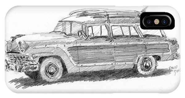 Ford Wagon Sketch IPhone Case