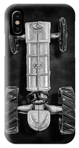 Farm Tool iPhone Case - Fordson Tractor Top Bw by YoPedro