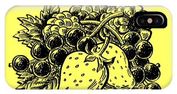 Lid iPhone Case - Forest Berries by Irina Sztukowski
