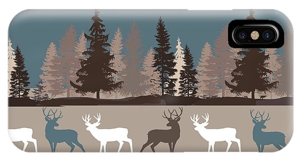 Forest Deer Lodge Plaid II IPhone Case