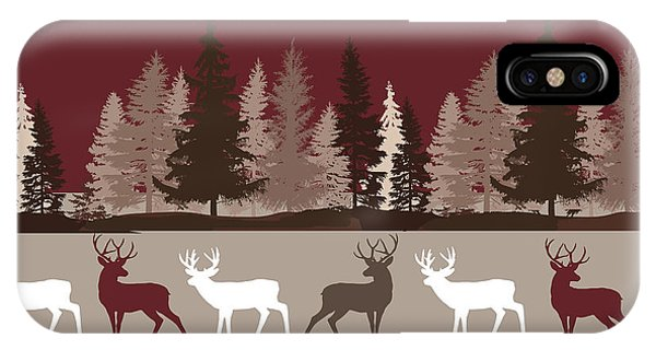 Forest Deer Lodge Plaid IPhone Case