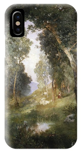 Barbara iPhone Case - Forest Glade by Thomas Moran