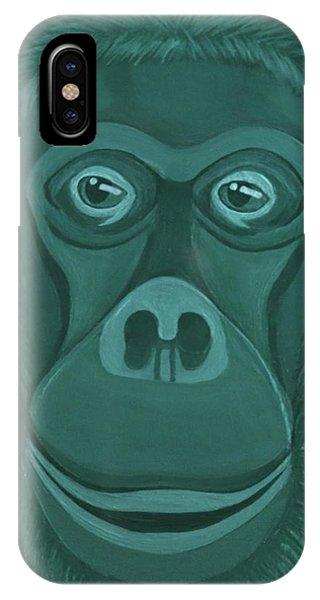 Forest Green Orangutan IPhone Case