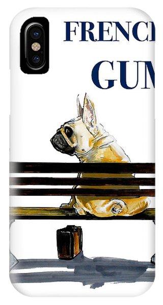Forest Gump French Bulldog Caricature Art Print IPhone Case