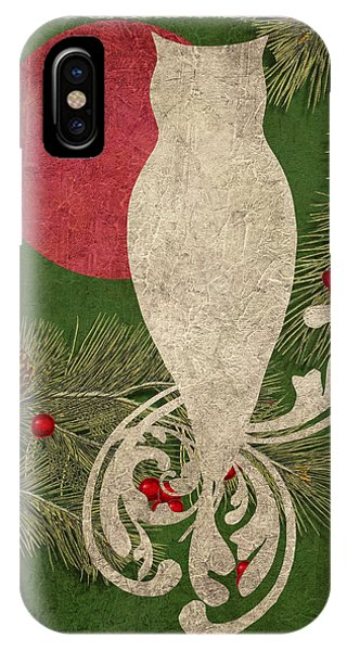 Forest Holiday Christmas Owl IPhone Case