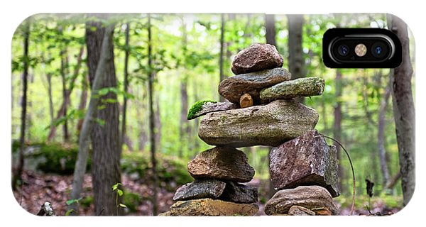 Forest Inukshuk IPhone Case