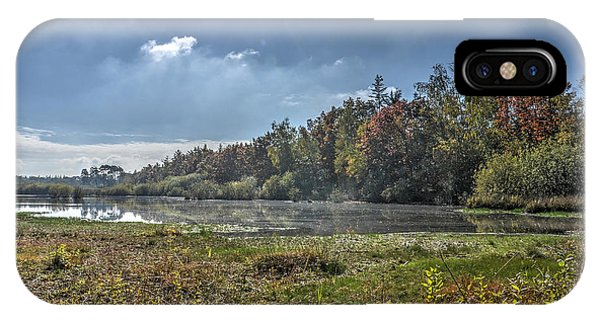 Forest Lake In Autumn IPhone Case