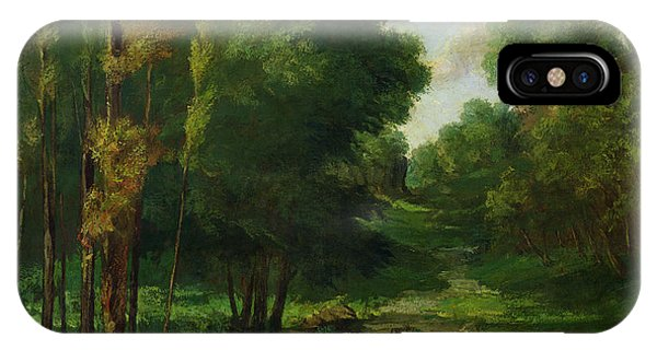 Outdoors iPhone Case - Forest Landscape by Gustave Courbet