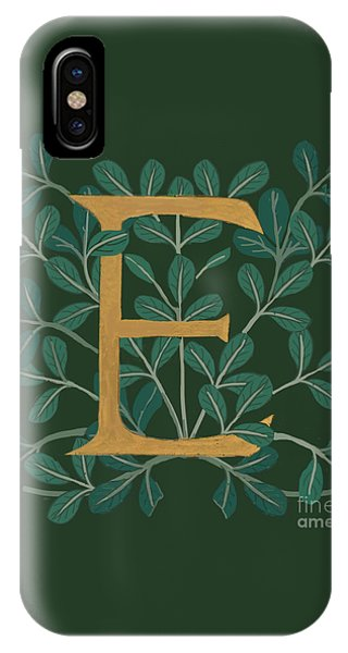 Forest Leaves Letter E IPhone Case