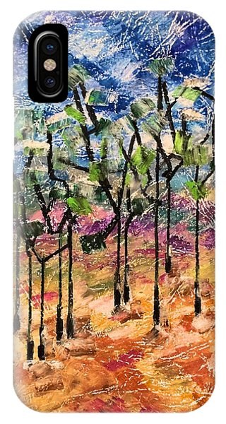 IPhone Case featuring the painting Forest by Norma Duch