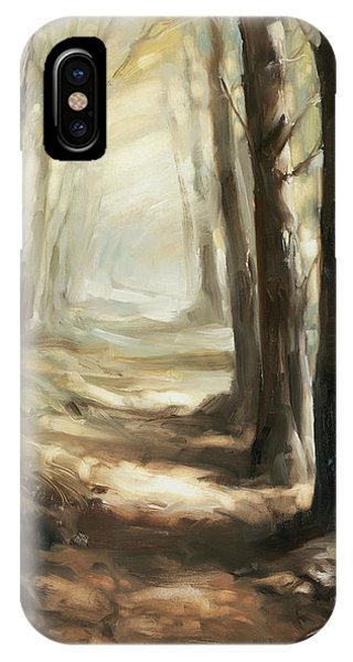 Distant iPhone Case - Forest Path by Steve Henderson