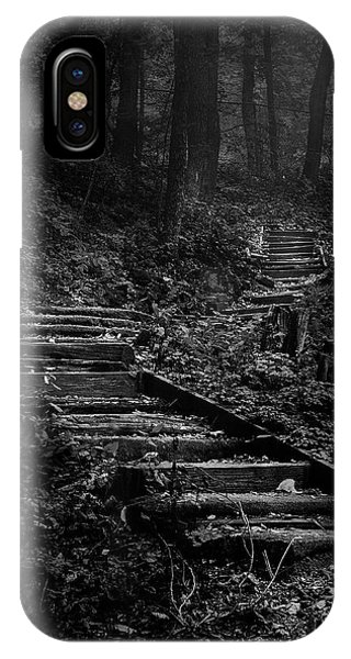 Woods iPhone Case - Forest Stairs by Scott Norris