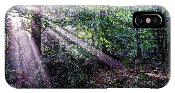 Forest Sunbeams IPhone Case